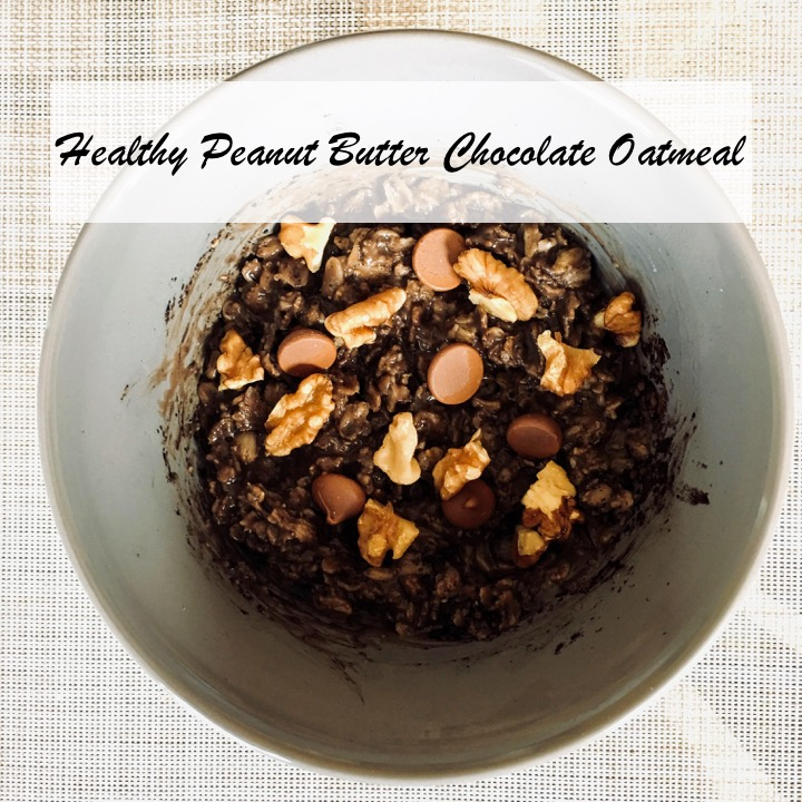 healthy peanut butter chocolate oatmeal
