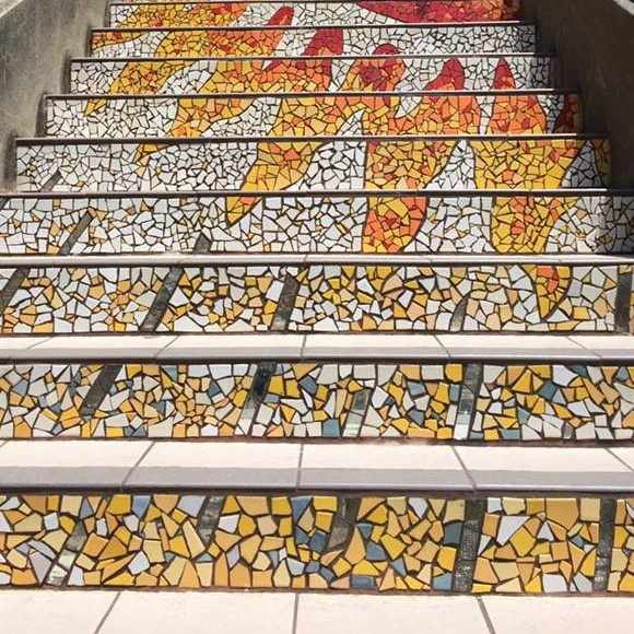 moraga tiled steps