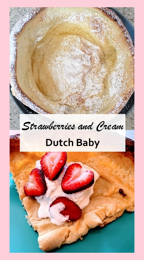 Strawberries and cream dutch baby