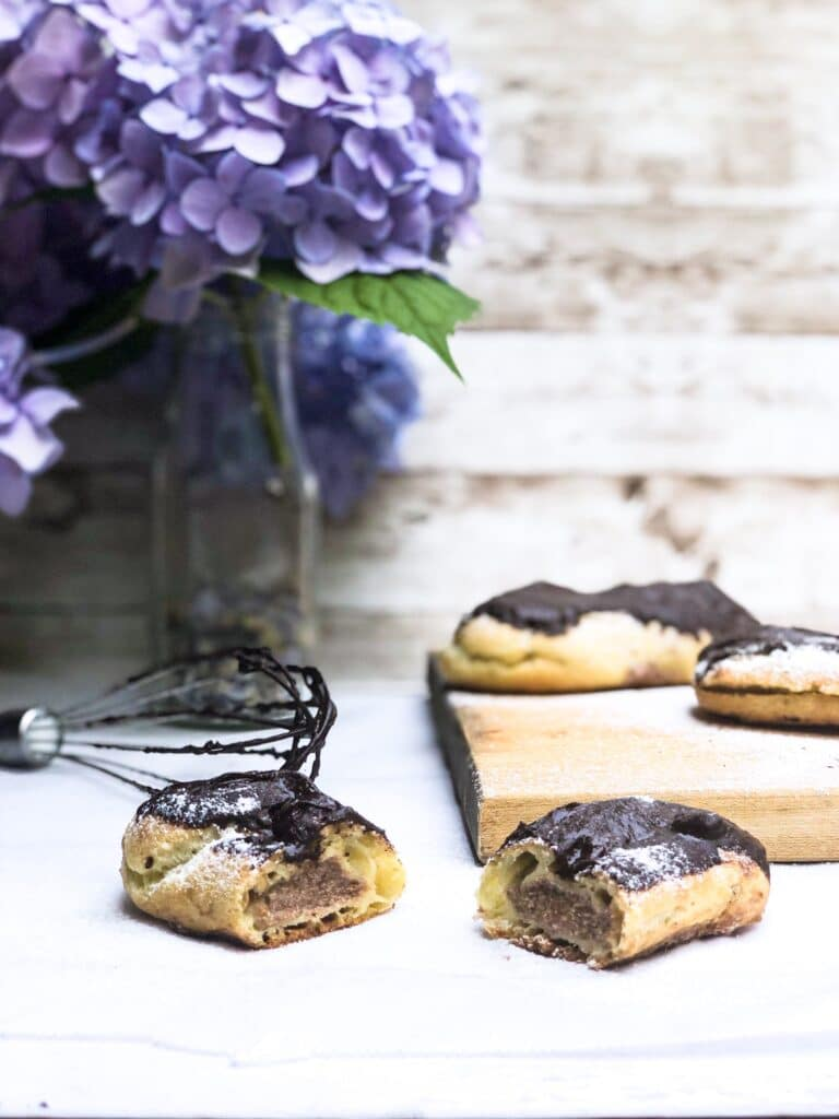 Learn how to make perfect chestnut chocolate eclairs.