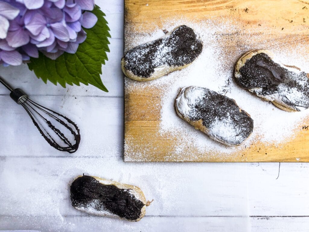 learn how to make delicious chestnut chocolate eclairs