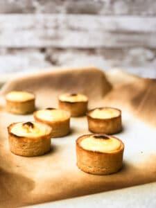 Japanese baked cheese tarts (Bake and Pablo dupe)