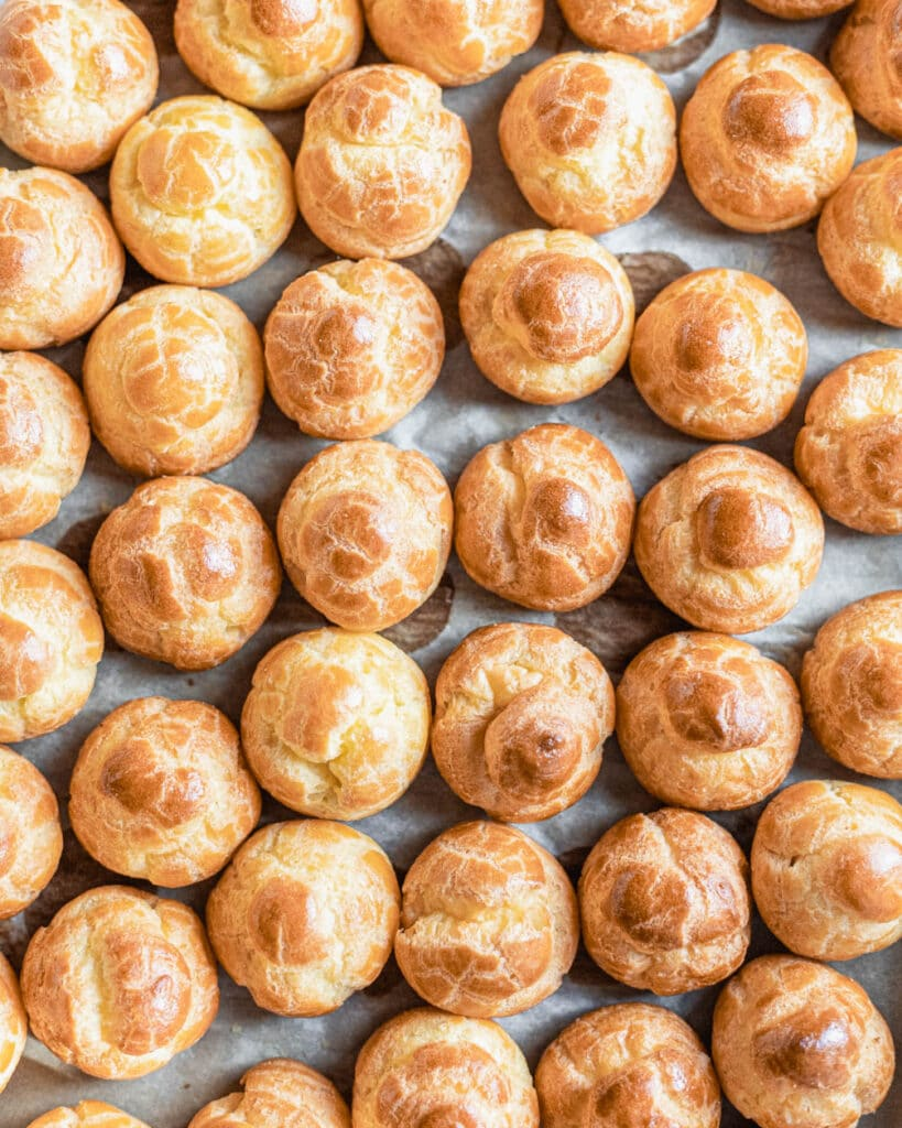 tray of cream puffs