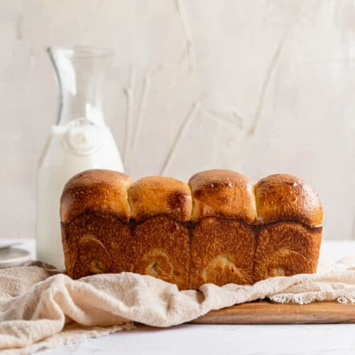 loaf of sourdough japanese milk bread
