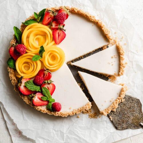 No bake vegan coconut tart