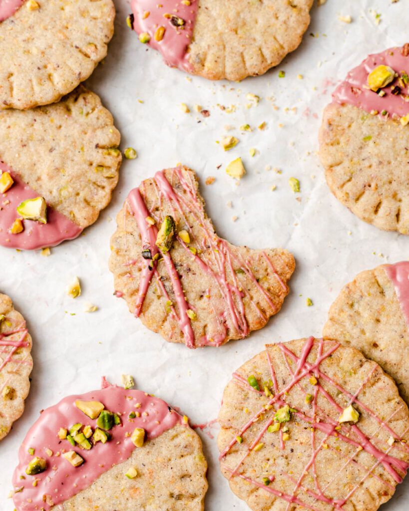shortbread cookie with bite out of it