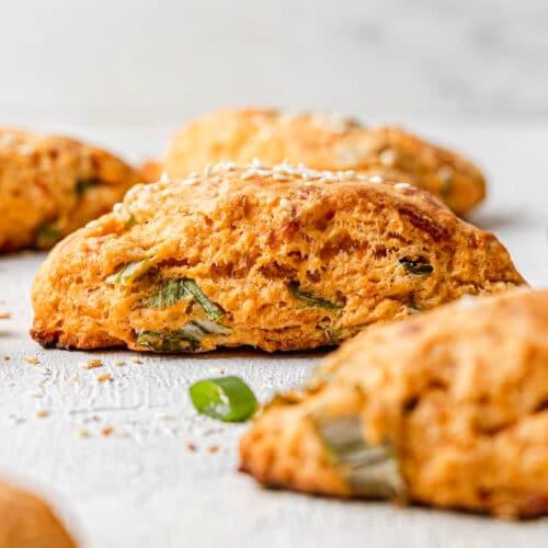 gochujang scallion cheese scones